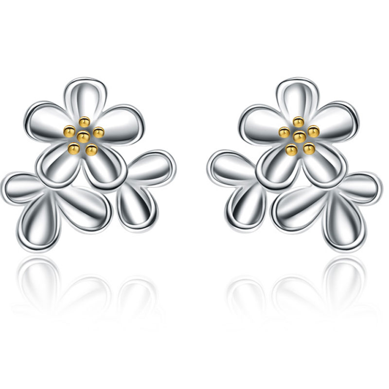 925 Sterling Silver Fashion Female Allergy Stud Earrings