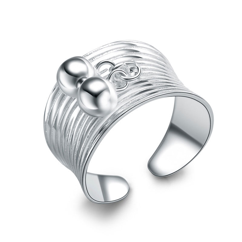 Simple Ring 925 Sterling Silver Adjustable Ring For Women