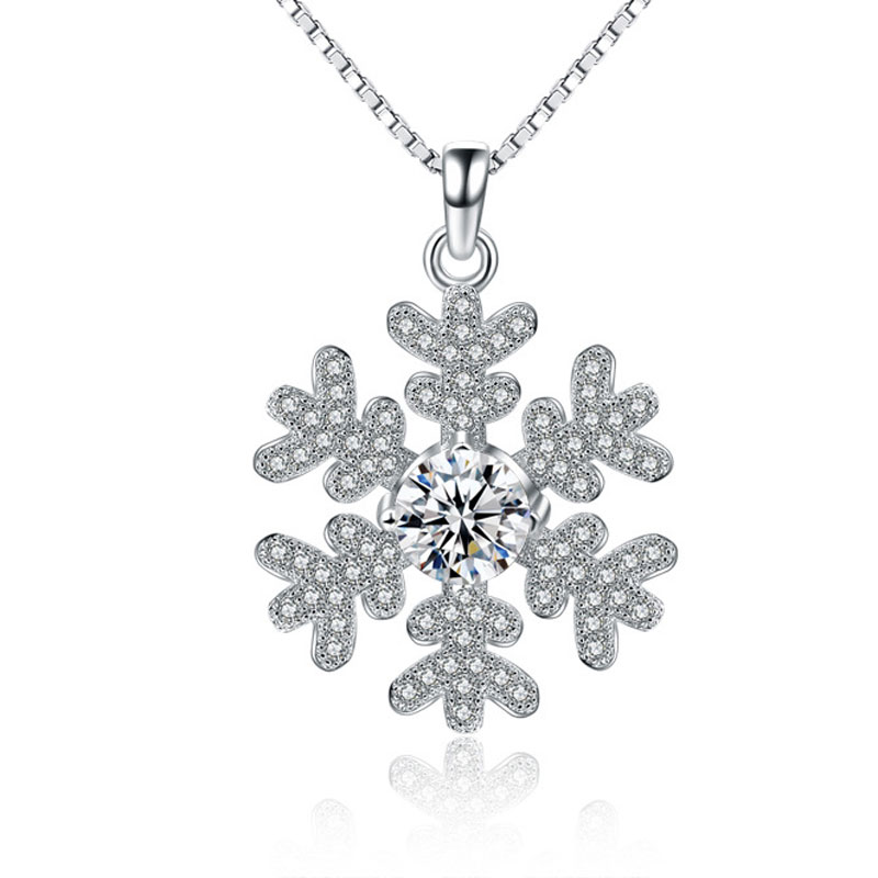 Fashion Snow 925 Sterling Silver Female Necklace