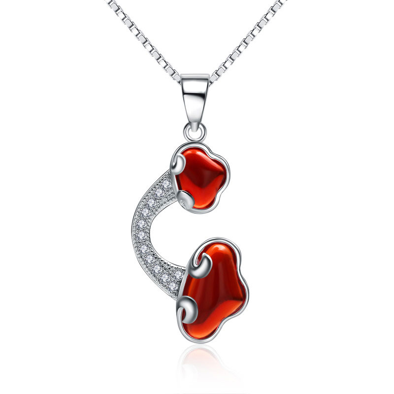 New Style 925 Sterling Silver Female Pendant Necklace