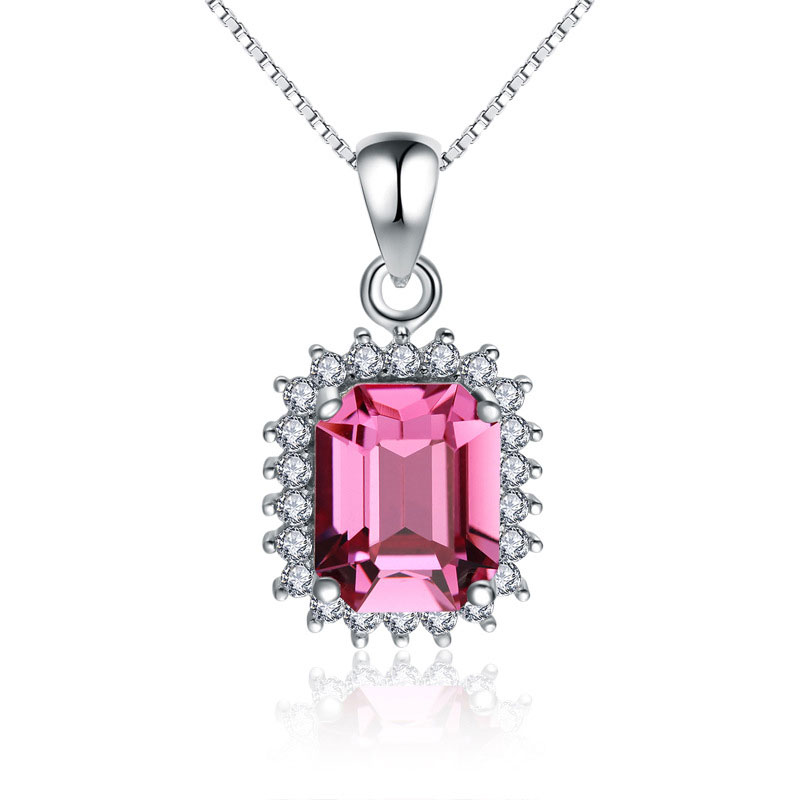 Fashion 925 Sterling Silver Female Pendant Necklace