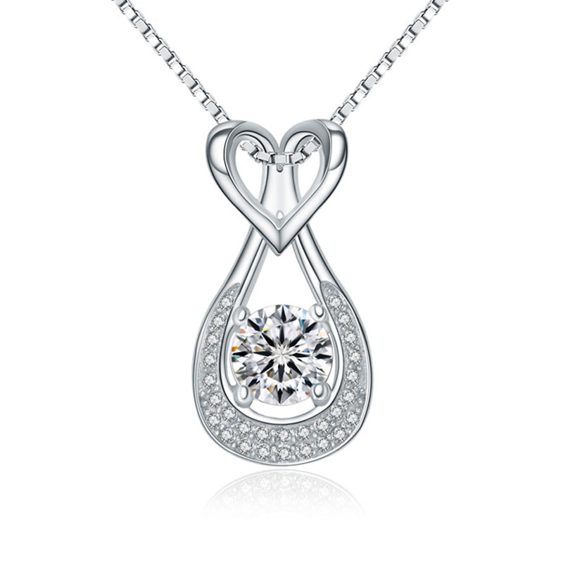 925 Sterling Silver Female Lucky Blessing Bag Necklace