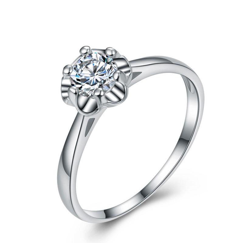 Fashion 925 Sterling Silver Diamante Ring For Women