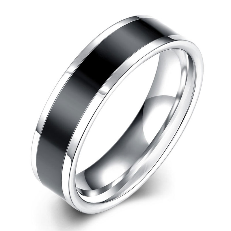 Hot Sale Simple Stainless Steel Ring For Men