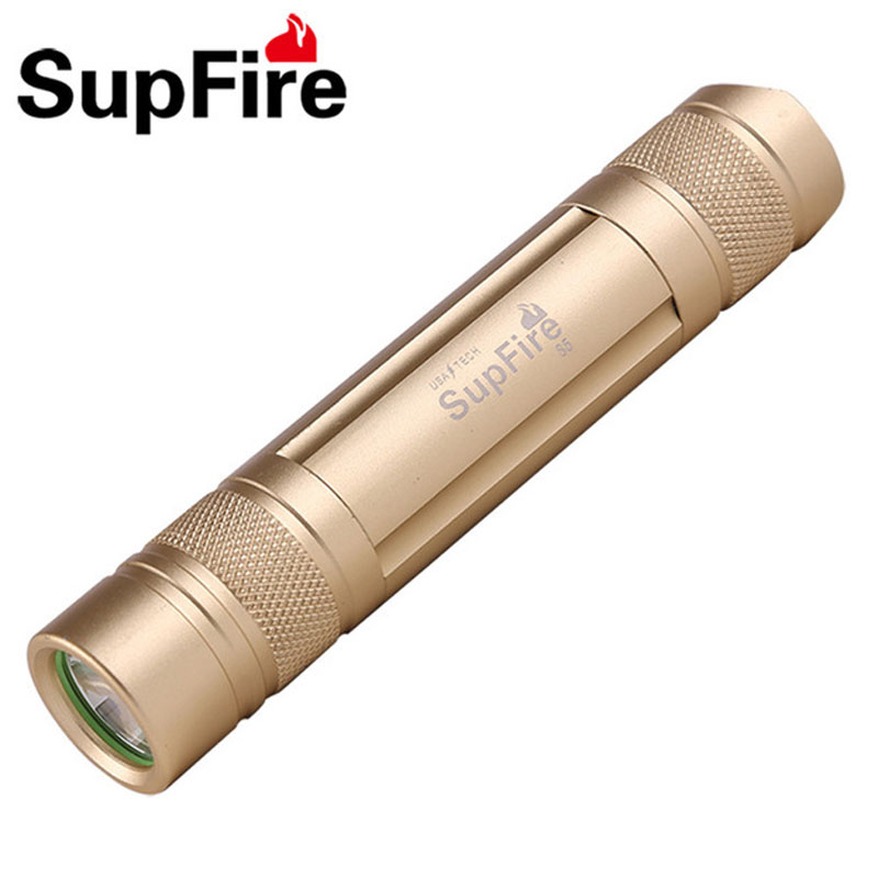 Supfire rechargeable flashlight for diving Led flashlight bright waterproof light zoom torch flashlights portable torch S5