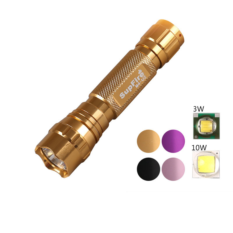 Original Supfire M4-U2 1000 Lumens CREE XML-U2 LED Flashlight Torch 10w High Power Camping Tatica by18650 Battery