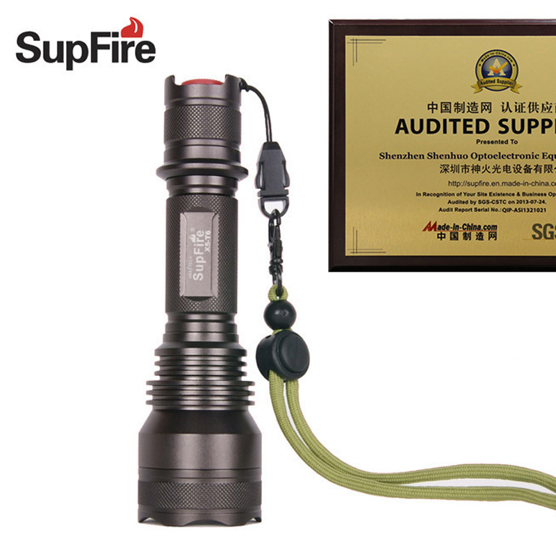 Supfire X5-T6 CREE XML-T6 900lm LED Flashlight 5 Modes Dimming Outdoor Led Light by 18650 Battery