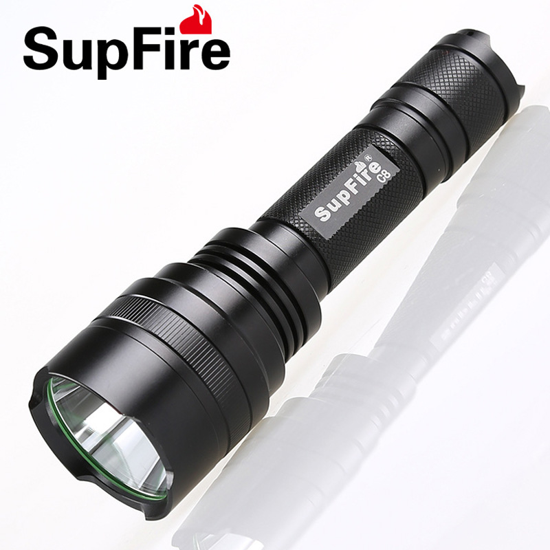 Supfire C8 Cree XPE 10W LED 900lm Tactical Flashlight Led Torch With Long range and Floodlight Effect for by 18650 Battery