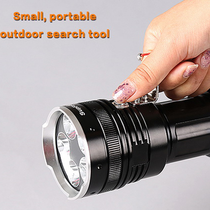 Supfire 3800 Lumens CREE XML-U2 LED Flashlight Waterproof Tactical Flashlight For Camping by 4*18650 Battery