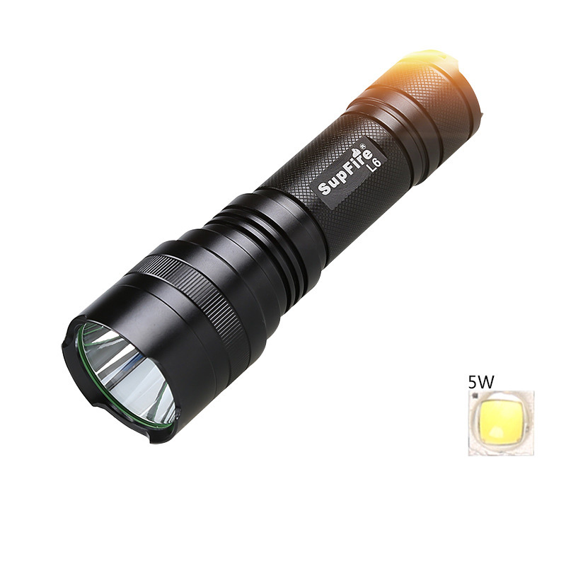 Mini Supfire CREE XM-L T6 1100LM Waterproof Powerful LED Flashlight rechargeable self defense 10w 5 Modes LED Torch L6-L2