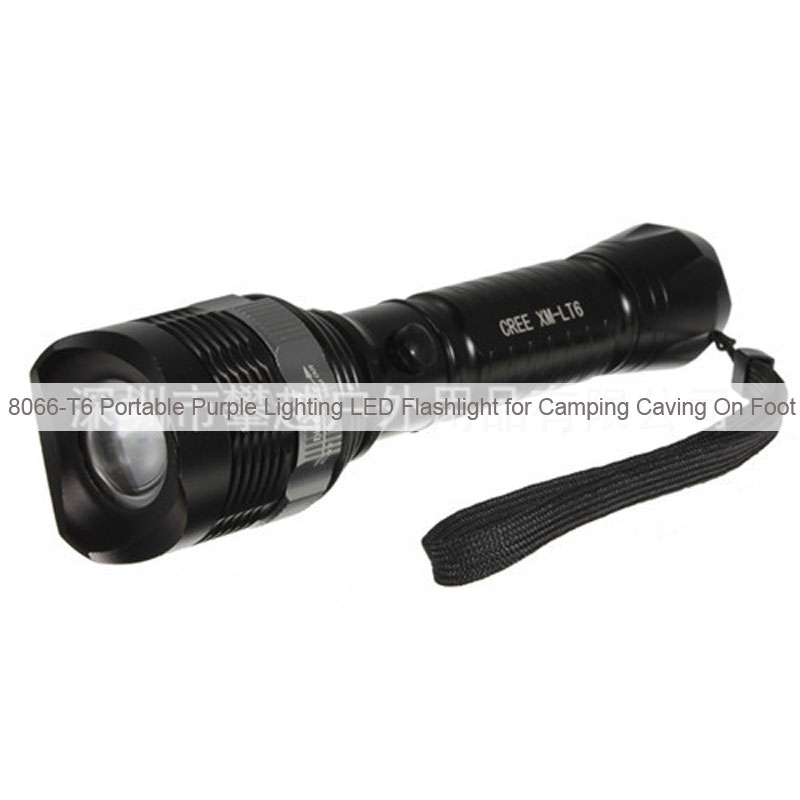 8066-T6 Portable Lighting LED Flashlight for Camping Caving On Foot