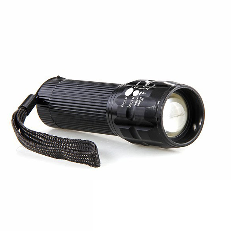 Portable Lighting LED Zoom Flashlight for Camping Caving On Foot