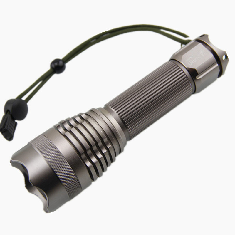Camping Caving On Foot LED Lighting Flashlight Portable   Waterproof YM-T6