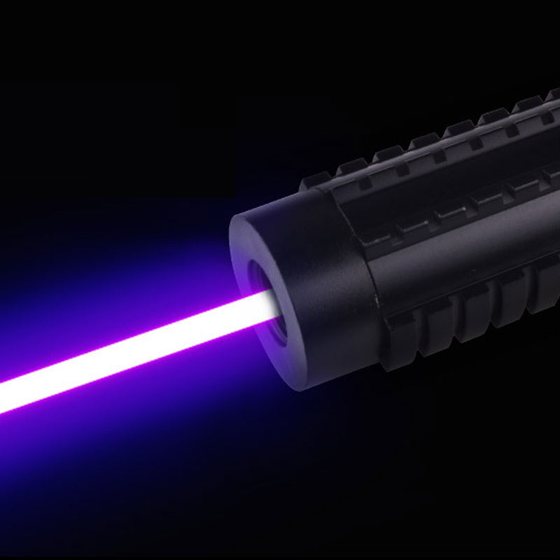3W Powerful Laser Flashlight Blue Light Long Effective Range Aluminium