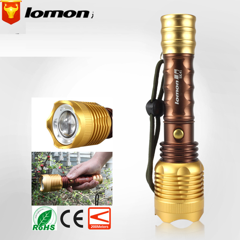 Lomon LED Flashlight AAA Aluminum Alloy Rechargeable Flashlight SK41