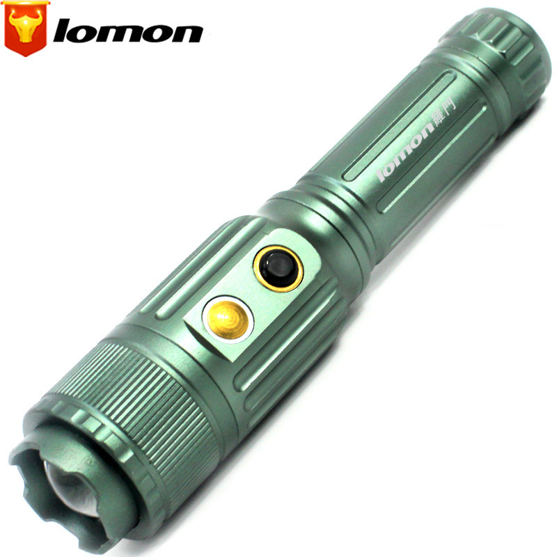 Lomon LED Flashlight Zoom Flashlight Long-range Rechargeable Flashlight SK86