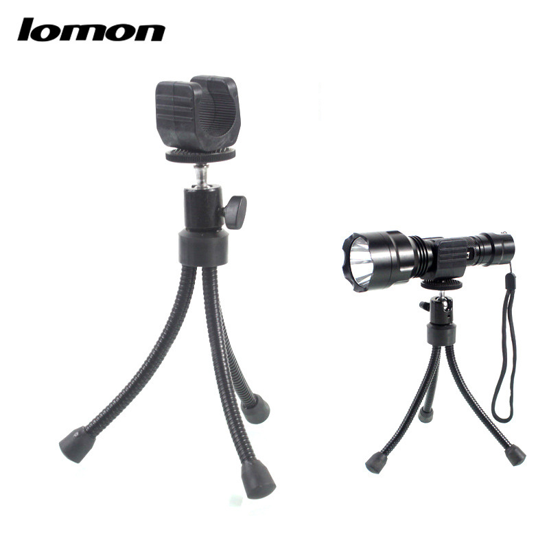 Lomon Outdoors Fixed Small Tripod for Flashlight P30
