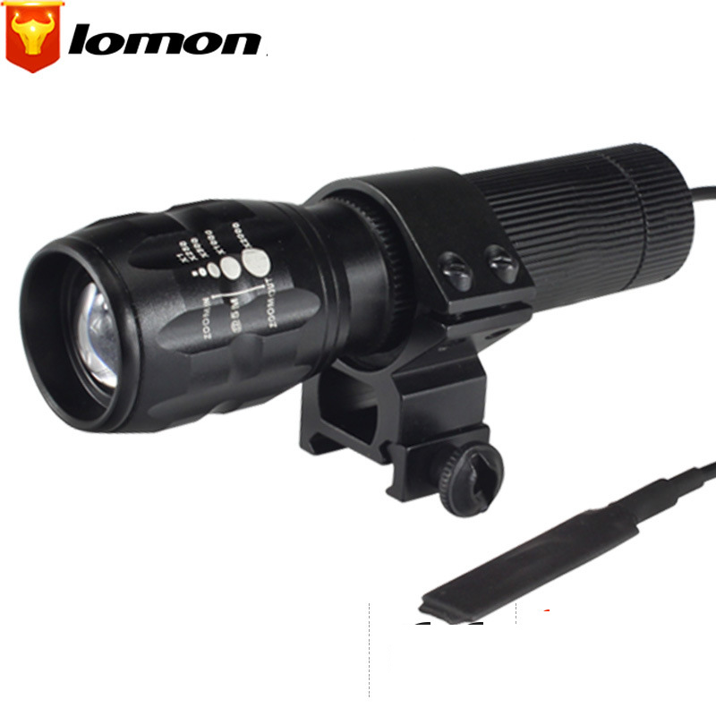 Lomon Outdoor Zoom Flashlight Tactical Wire-controlled Small Flashlight ST87