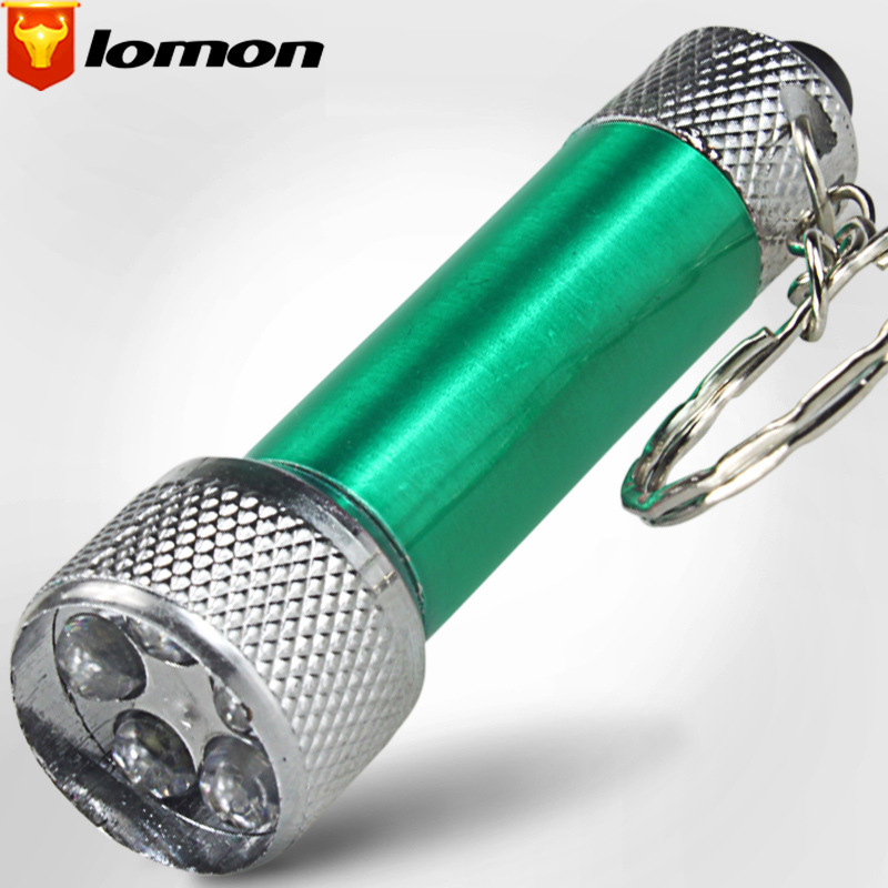 Lomon Small Flashlight Key Chain Flashlight with Button Battery SD64
