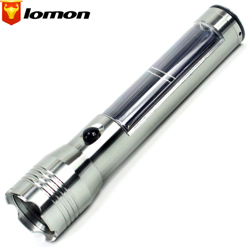 Lomon LED Solar Long-range Flashlight Mini Flashlight SK20