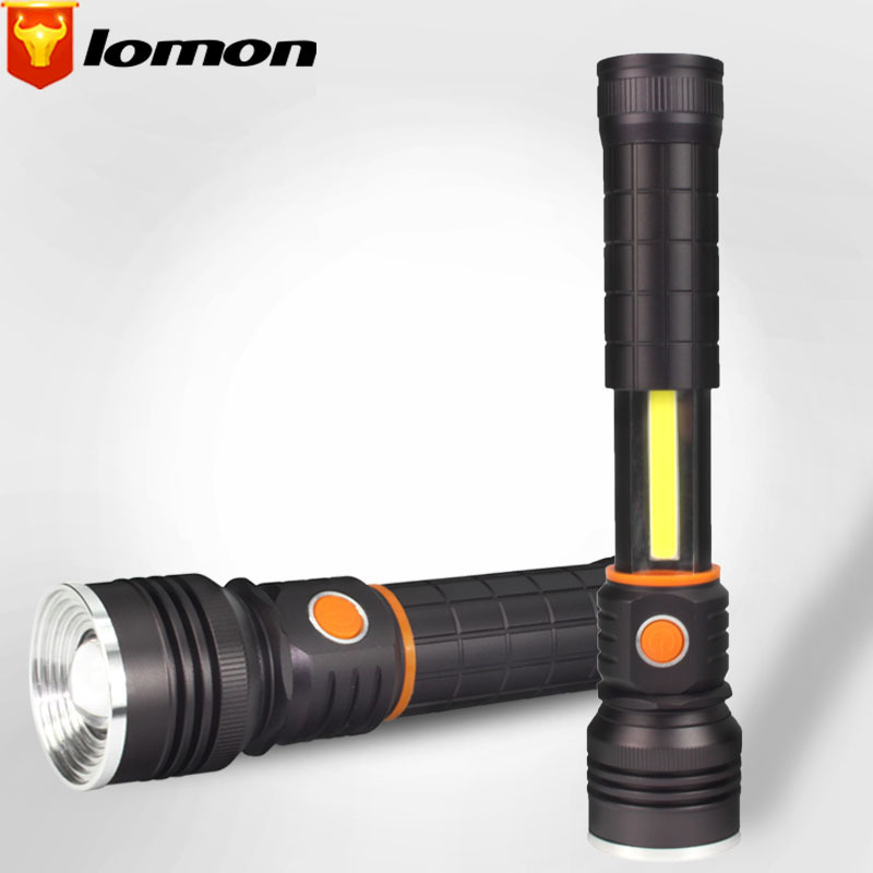 Lomon 35 LED Flashlight Rechargeable Zoom Flashlight Magnetic Flashlight T9624