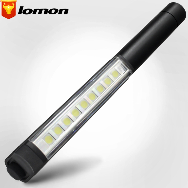 Lomon 9LED Mini Flashlight Multi-function Pen Lamp SD163