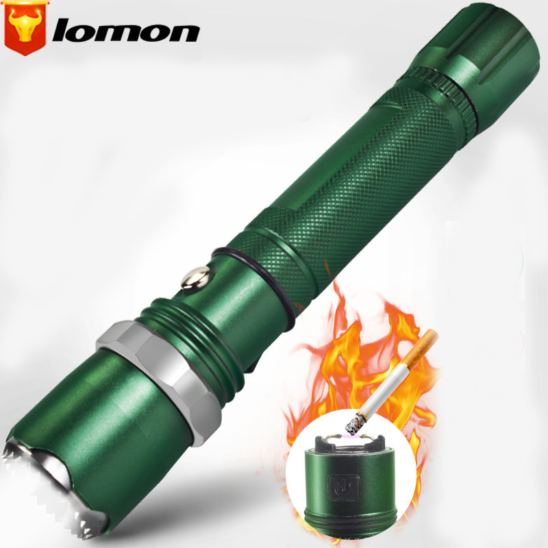 Lomo Cigarette Lighter Flashlight 300M Long-range Recharging Flashlight T9638-2