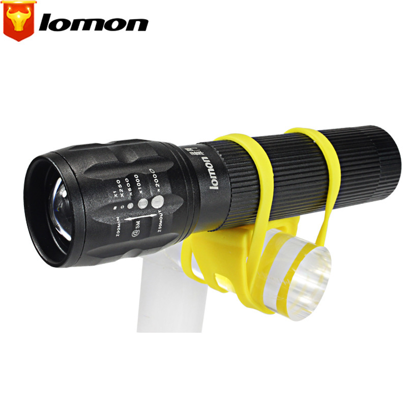 Lomon Outdoor Zoom Flashlight Rechargeable Flashlight Mountain Bike Headlights Q2009