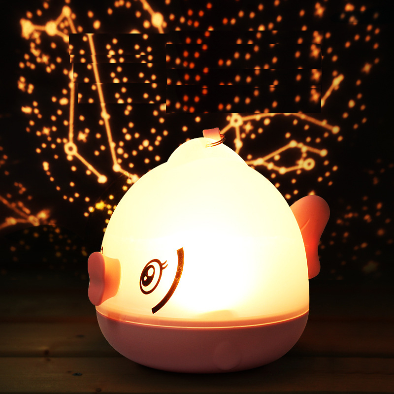 Wireless Remote Control Lamp Lovely Fish LED Nightlight XSDGFTR