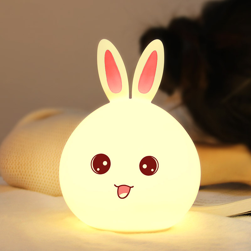 Adorable Rabbit Household Lamp Cartoon LED Nightlight ASDWET