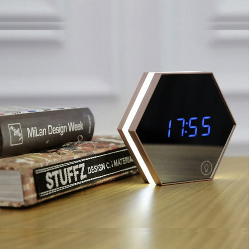 Multifunctional Household Alarm Clock Lamp Fashion LED Nightlight A1975