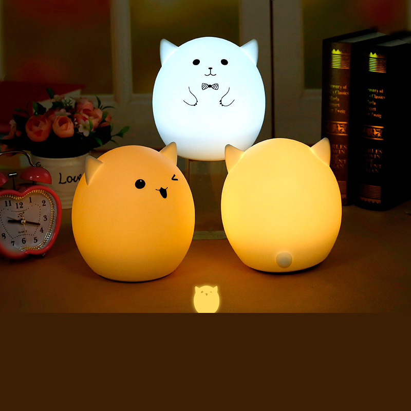 New Design Cartoon Colorful Cute Lamp USB LED Nightlight