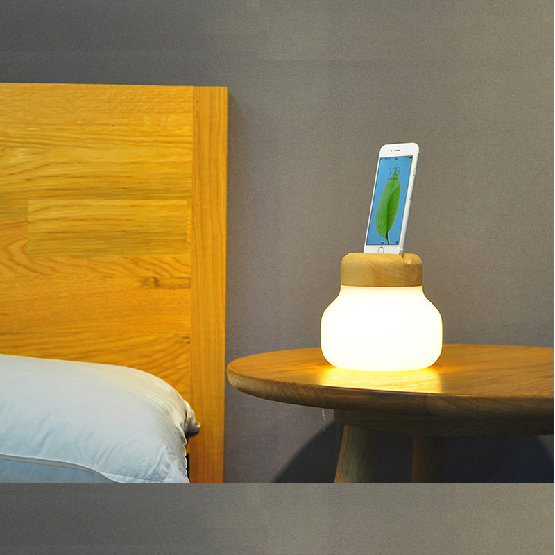 Wooden Household Display Lamp USB Interface LED Nightlight