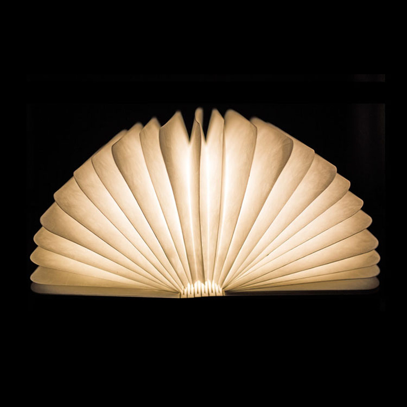 Creative Wooden Fashion Book Lamp USB Interface LED Nightlight