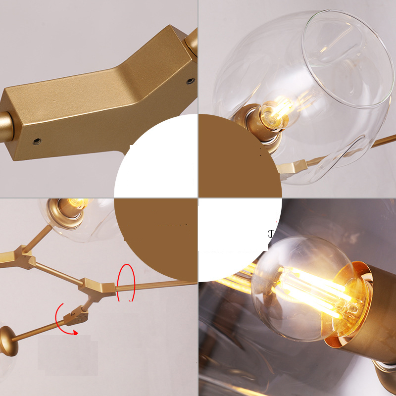 Modern Creative Molecular Pendant Lights Birdcage Lighting Chandelier YS-D0002