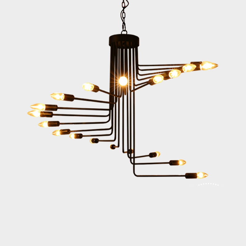 Modern Stair Shape Pendant Lights Rotating Lamp Lighting Chandelier YS-D0031