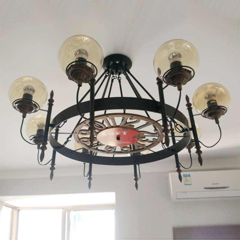 Creative Restaurant Bar Pendant Lamp Retro Designer Lighting Chandelier YS-D0012