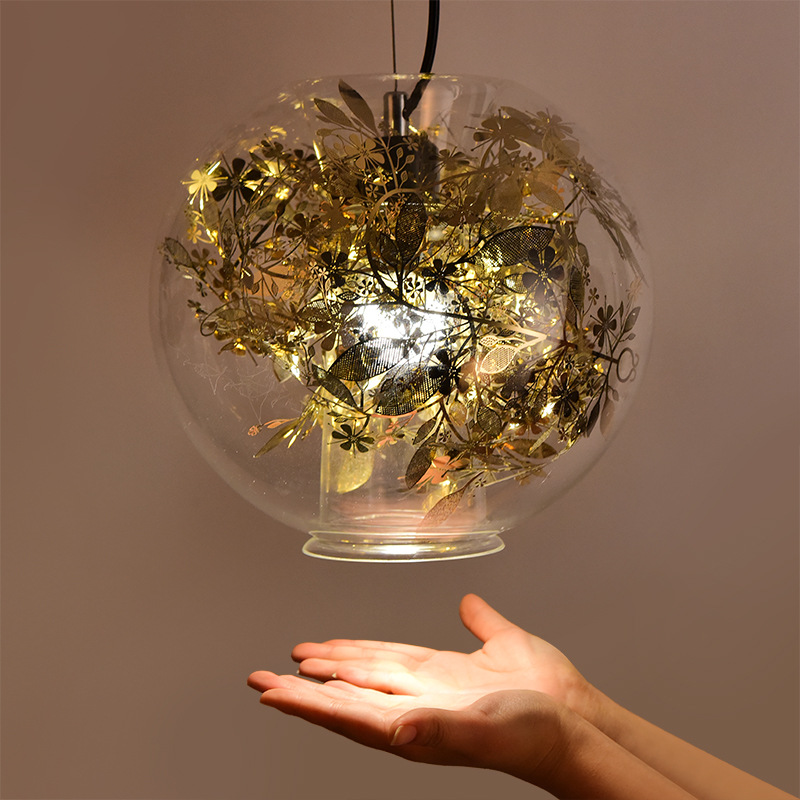 Creative Spherical Glass Pendant Lighting Coffee Shop Chandelier YS-D0040