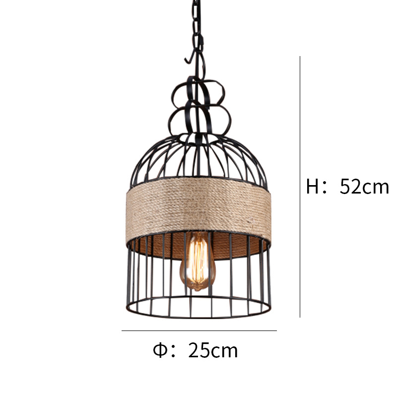 Retro Ferrum Living Room Pendant Aisle Lighting Chandelier YS-D0014