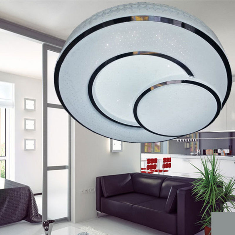 Fashion 24W 32W Acrylic Modern round led ceiling light indoor lighting lamps