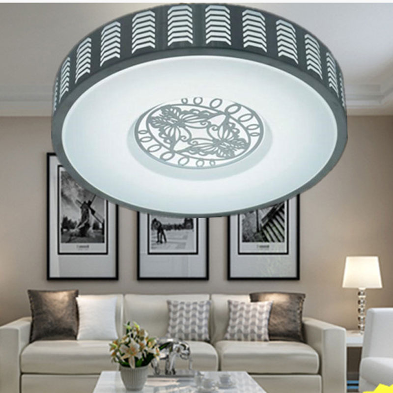 Aluminum Modern Led Ceiling Light Flush Mount Round Ceiling Lamp for Living Room Bedroom Corridor Balcony 24W 32W 220V