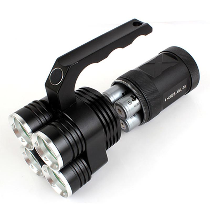 LED Aluminum Alloy 40W Bright Light Rechargeable Flashlight