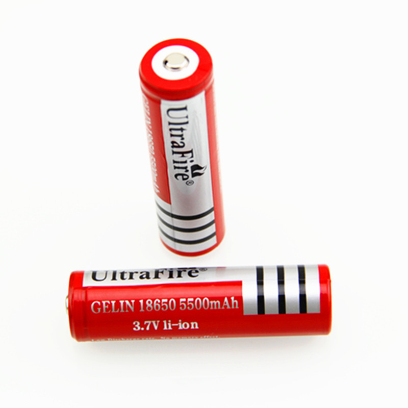 18650 5500mAh 3.7V Li-ion Batteries For Bright Light Flashlight