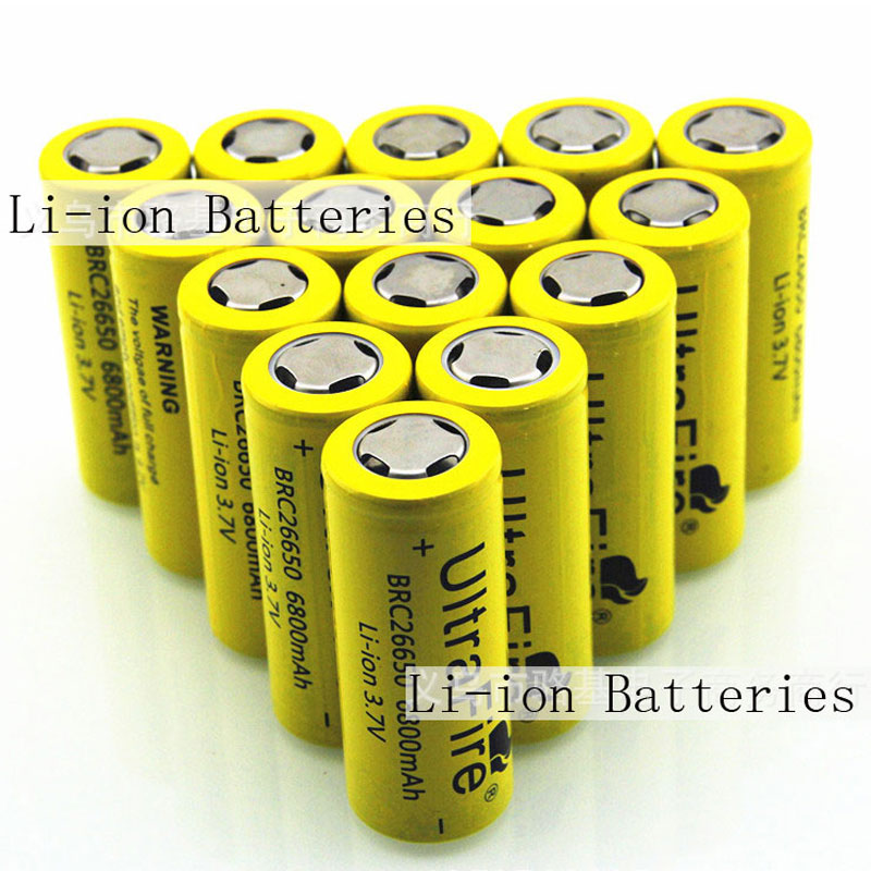 26650 5500mAh 3.7V Rechargeable Li-ion Batteries For Flashlight