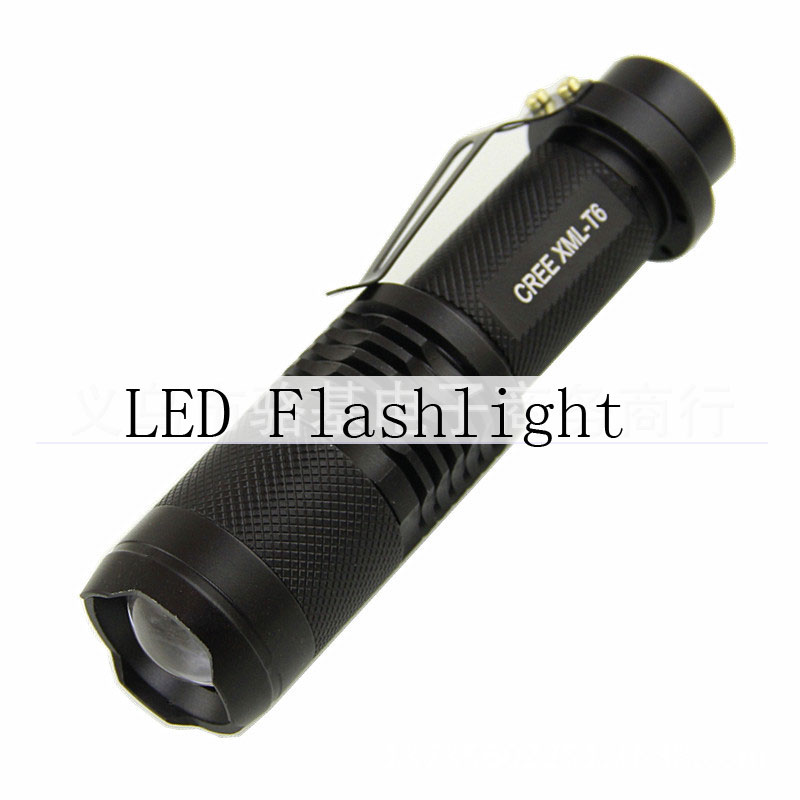 LED T6 Bright Light Waterproof Mini Rechargeable Flashlight