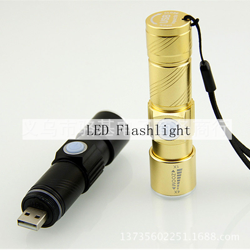 LED 5W Mini Highlight Rechargeable USB Flashlight