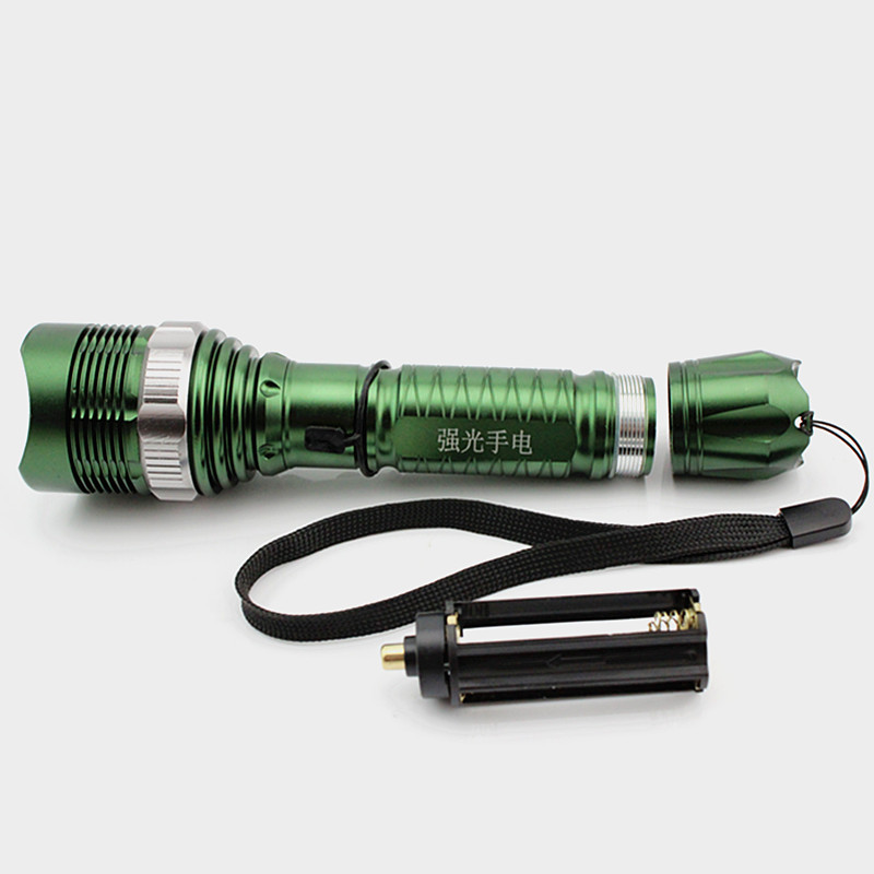 LED Zoomable Highlight Aluminum Alloy Rechargeable Flashlight