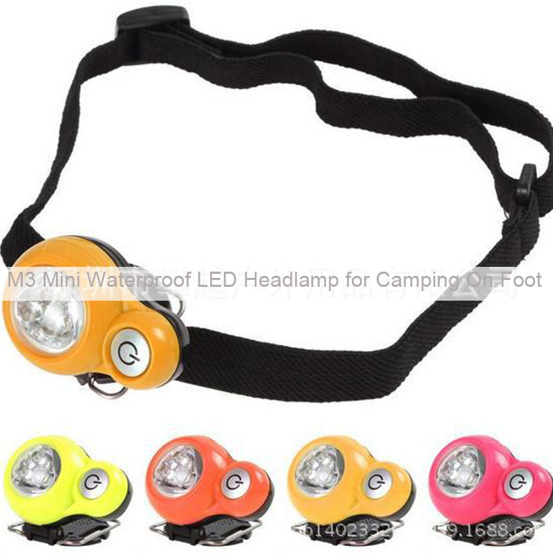 M2 Mini Waterproof LED Headlamp for Camping On Foot