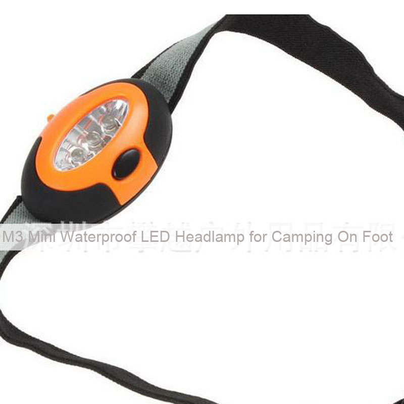M3 Mini Waterproof LED Headlamp for Camping On Foot