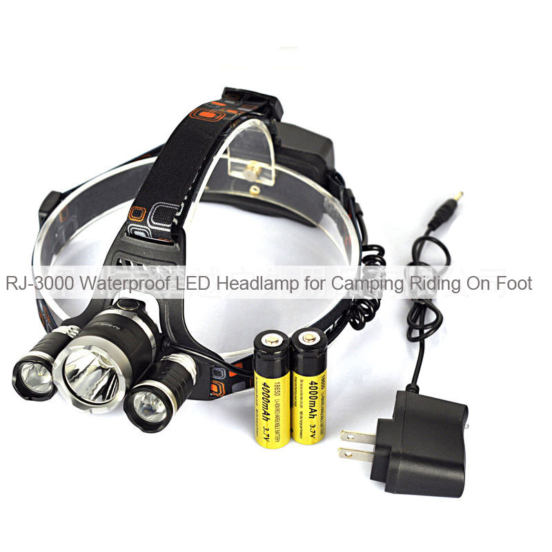 RJ-3000 Waterproof LED Headlamp for Camping Riding On Foot